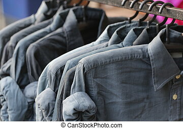 blue jeans in shop - blue jeans in the shop