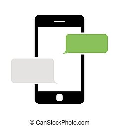Vector black text messaging icon. Text Messaging Icon...