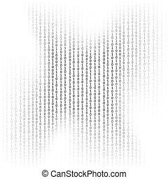 Data Code, Decryption and Encoding - Binary Code Background...