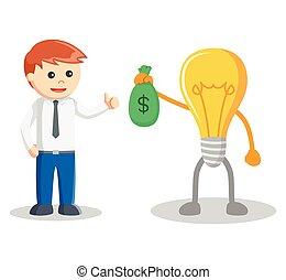 Idea bring sack of money