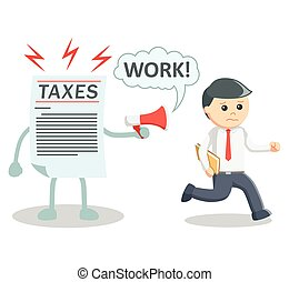 Taxes working illustration