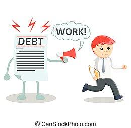 Debt ensalved business man