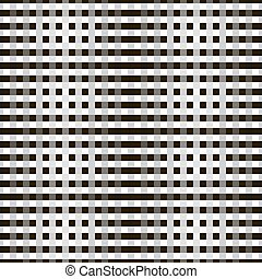 Abstract seamless monochrome pattern of crossing stripes -...