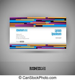 Business card with abstract lines Modern design elements...