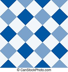 Navy Blue Serenity White Diamond Chessboard Background...