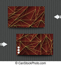 Graphic illustration. - Business card template with abstract...