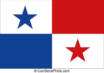 Panamá, bandera, concepto, como, Plano de fondo,