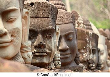 Angkor, face detail
