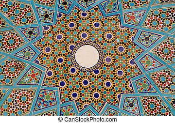Decorated dome - Detail of a decorated dome in Iran