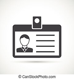 Identification card for man icon Identification card...