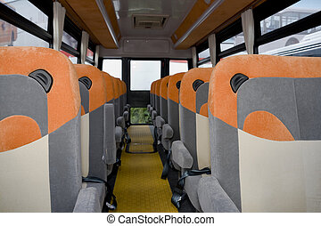 Empty School Bus Interior