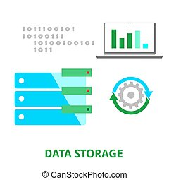 vector - data storage - An illustration showing a data...
