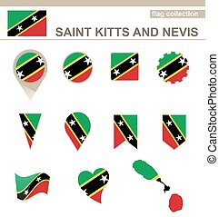Saint Kitts and Nevis Flag Collection, 12 versions