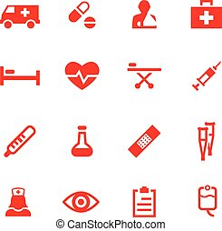 Set of vector medicine icons.