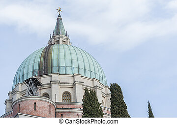 The military Memorial Church in Udine, Italy. - Military...