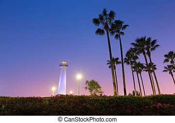 Long Beach Harbor Lighthouse - Long Beach, California,...