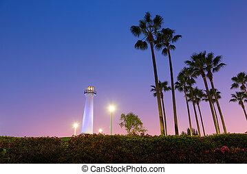 Long Beach Harbor Lighthouse - Long Beach, California,...