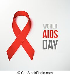 World AIDS Day - AIDS Awareness Ribbon. World AIDS Day. Red...