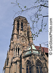 Johanneskirche Stuttgart Feuersee - Johannes church in the...