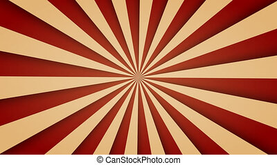 Sunburst pattern animation. vintage retro round background