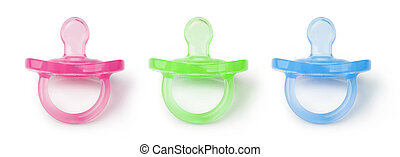 orthodontic pacifier isolated on a white