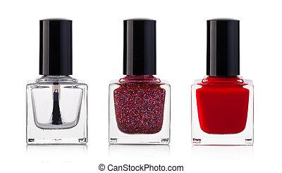 nail polish -  nail polish bottle on white background