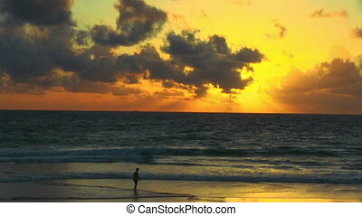 Tropical sunset - Colorful sunset on the shores of Andaman...
