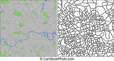 London - Illustration city map of London in vector.