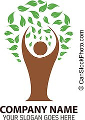 Human Tree Logo Icon Template