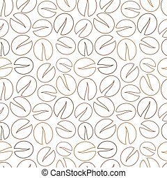 Coffee beans vector - Outline coffee beans background Vector...