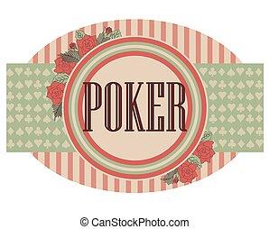 Vintage poker banner