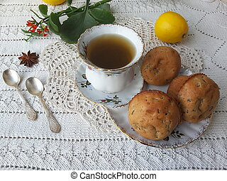 Kalanchoe muffins on table - Kalanchoe muffins, cooking...