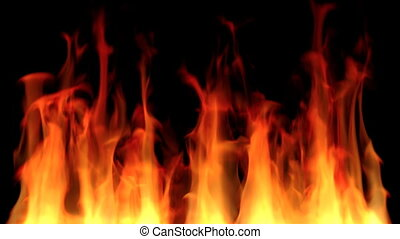 Fire Background Loop - Seamless looping animation of fire on...