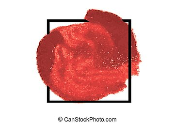 Watercolor hand brush painting red