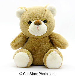 Teddy Bear -  A plush Teddy Bear isolated on white