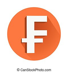 Franc symbol - This is an illustration of franc symbol