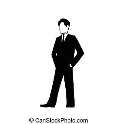 businessman silhouette - This is the illustration of...