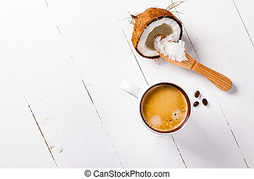 Bulletproof coffee, its a coffee blended with butter or...
