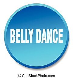 belly dance blue round flat isolated push button