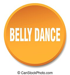 belly dance orange round flat isolated push button