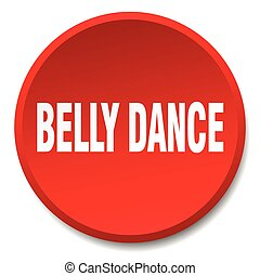 belly dance red round flat isolated push button