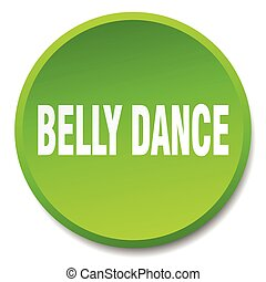 belly dance green round flat isolated push button