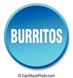 burritos blue round flat isolated push button