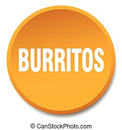 burritos orange round flat isolated push button