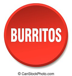 burritos red round flat isolated push button