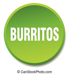 burritos green round flat isolated push button