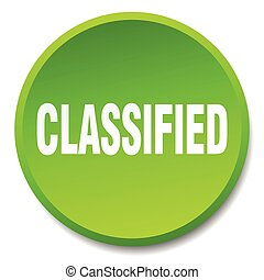 classified green round flat isolated push button