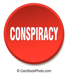 conspiracy red round flat isolated push button