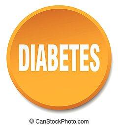 diabetes orange round flat isolated push button