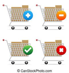 carritos, compras, iconos